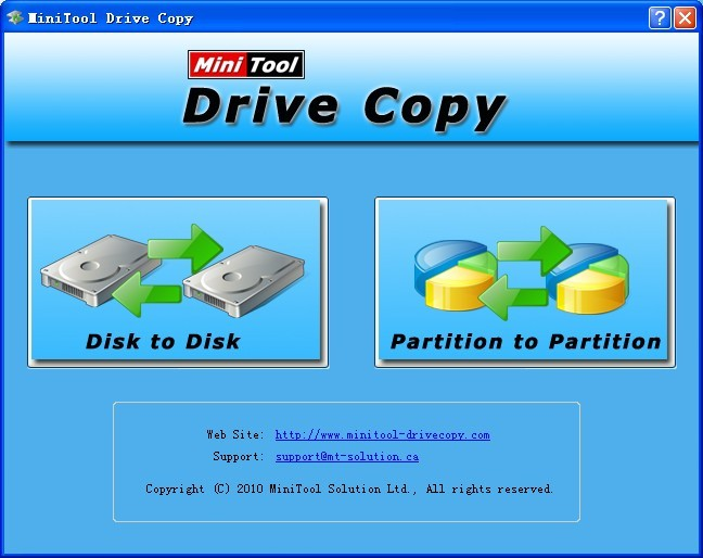 Description of MiniTool Drive Copy