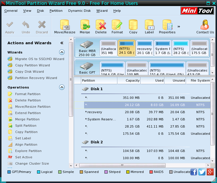 minitool partition wizard bootable cd